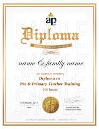 primary and pre primary teacher training course online aptti diploma in pre and primary teacher training