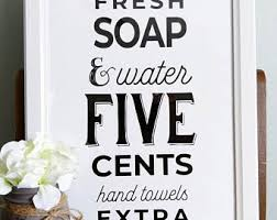 Bathroom signs Etsy
