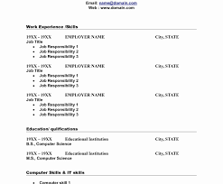 Free Fill In Resumes Printable Free Blank Resume Templates Printable Skills Based Fill In The 33