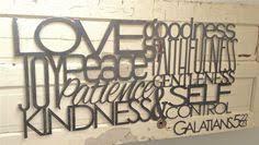 large metal wall art scripture
