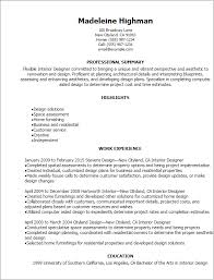 Interior Design Resume Examples Custom Interior Design Resume Examples Simple Resume Examples For Jobs