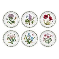 portmeirion botanic garden 8 inch plate set of 6
