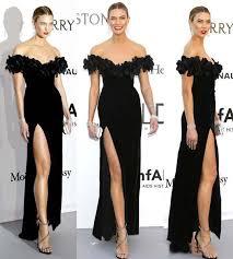 Karlie Clothing Size Chart Black Velvet Celebrity Dresses 2019 Karlie Kloss Inspired Gala Cannes Film Festival Off Shoulder Formal Evening Dress High Split Maxi Dress Red Dress