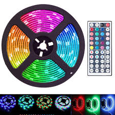 Car Led Light Strips Walmart 16 4 Feet Flexible 300 Led Light Strip 3258smd Color Changing Includes 44 Key Remote Perfect For Home Lighting Kitchen Bed Bar And Decor