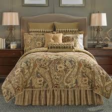 croscill classics catalina brown comforter set ashton bedding collection gold pillows 14