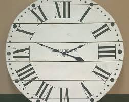 oversized farmhouse clock farmhouse wall clock oversized farmhouse wall clock large clock