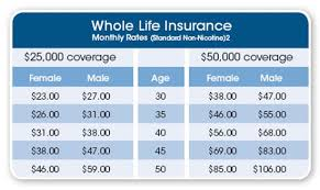 Cheap Life Insurance Quotes Custom Whole Life Insurance Rate Charts Antaexpocoachingco