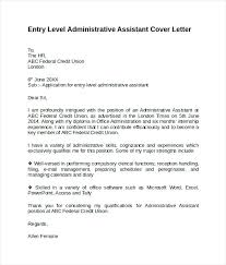 Entry Level Administrative Assistant Cover Gallery For Website