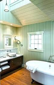 beach style bathroom. Fine Beach Beach Style Bathroom Wood Ceiling In Painted  Paneling For A   To Beach Style Bathroom S
