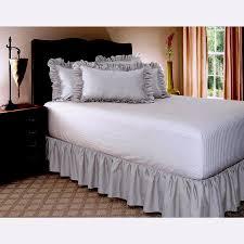 Light Grey Bed Skirt Full Comfy Gathered Bed Skirt Solid Light Grey