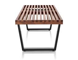george nelson™ platform bench with wood base  hivemoderncom