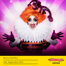 the chion of rupaul s drag race bianca del rio has announced she will be visiting the bonus arena hull on 11 september 2019 as part of her uk arena