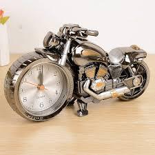 cool motorcycle motorbike design alarm clock desk clock desk clock table decoration drop creative home