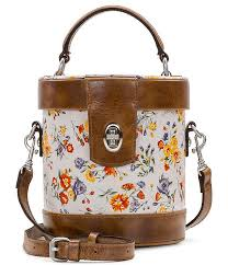 patricia nash mini meadows collection noli top handle cylinder fl leather cross dillard s