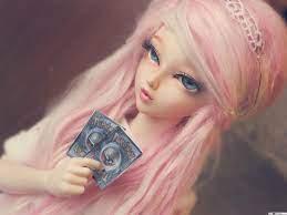 Cute pink hair doll HD wallpaper download