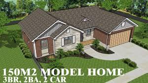 150m2 House Designs House Plan 150m2 With 3 Bedrooms 2 Baths 2 Car Garage Home Design Ideas