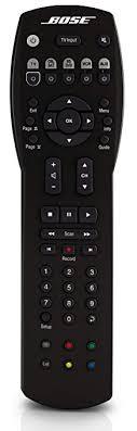 bose remote control. bose solo/cinemate universal remote - black control