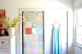 door wallpaper closet door makeover