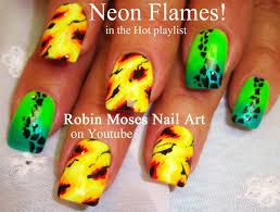 Neon Hot Summer Nails   Rainbow Abstract Nail Art Design Tutorial ...