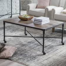 Belham Living Franklin Reclaimed Wood Industrial Coffee Table
