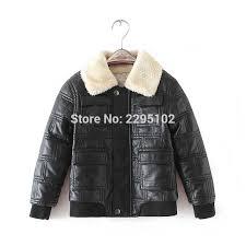 infant leather jacket 2017 thicker warm children s leather jacket infantil infant overcoat kids lapel jacket clothing baby coat myfashion