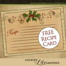 Printable Christmas Recipe Cards Christmas Recipe Templates
