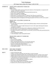 project scheduler resumes scheduler production resume samples velvet jobs