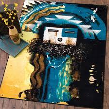 santa fe boogie blue rug 8 ft round