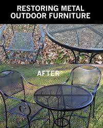A few years ago I bought a really cute patio furniture set which