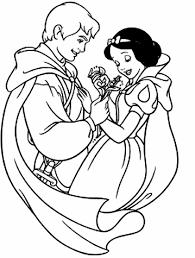 Disegno Di Biancaneve E Il Principe Da Colorare Disegni Da