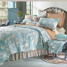 Aqua Bedding Comforter Sets and Quilts Sale – Ease Bedding with Style & Natural Shells 90 x 92 Full/Queen Quilt Adamdwight.com