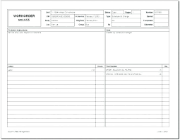 Access Order Form Template Free Work Order Template