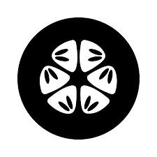 スイカ果実のスライスや種子の断面平らなアプリとウェブサイトの色アート