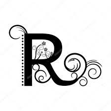 R の文字にアルファベットの模様 ストックベクター Mas042 76375099