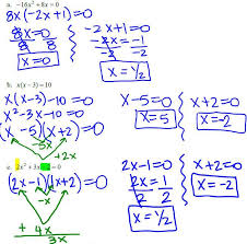 equations by factoring