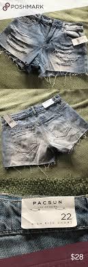 Nwt Pacsun High Rise Denim Shorts Size 22 Nwt In 2019