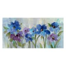 on canvas wall art blue flowers with artissimo bold blue flowers canvas wall art