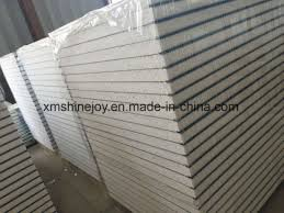 corrugated aluminum composite color steel sandwich panel with eps foam of cold storage wall cladding material