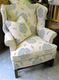 simple upholstery fabric for wingback chair