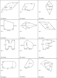 Stunning Area Maths Worksheets Pictures Inspiration - Worksheet ...
