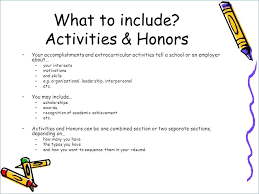 Extra Curricular Activities In Resume From Honors And Awards Resume