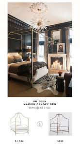 Fresh Pottery Barn Teen Maison Canopy Bed for vs Overstock Bailey Brushed  Copper Canopy Bed for