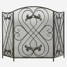steel fireplace screen uttermost hand forged metal fireplace screen in distressed aged black stainless steel mesh