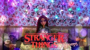 diy how to make stranger things dollhouse room with real working holi