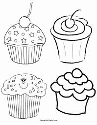 cupcakes drawing black and white. Simple Drawing Cute Cupcake Line Drawing Luxury At Getdrawings Inside Cupcakes Black And White