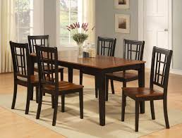 unique black wood kitchen table and chairs with 7 pc dinette kitchen dining table w 6