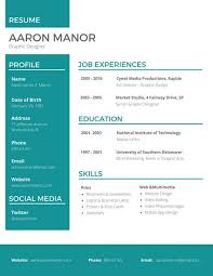 Cool Resume Templates Best Graphic Designer Resume Templates By Canva