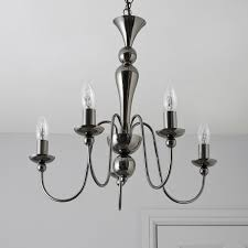 black chandelier lighting photo 5. megan black nickel effect 5 lamp pendant ceiling light departments diy at bu0026q chandelier lighting photo d