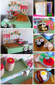 Diy Kitchen Decorating Dirt Cheap Decor Play Kitchen And Food Diy