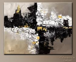 wall art black white and gold